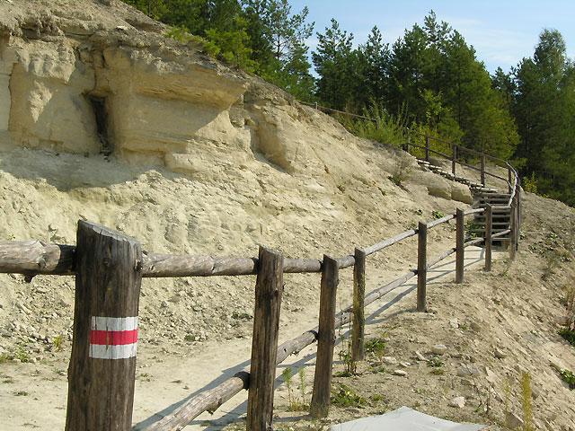 schody na kamieniłomy i platformę obserwacyjną