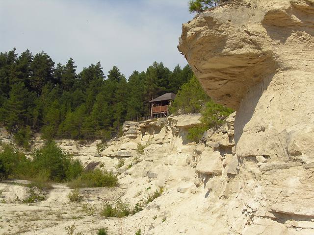 platforma obserwacyjna na szczycie kamieniołomów