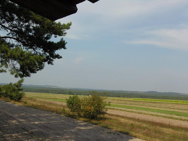 widok z ambony na pola Nowin