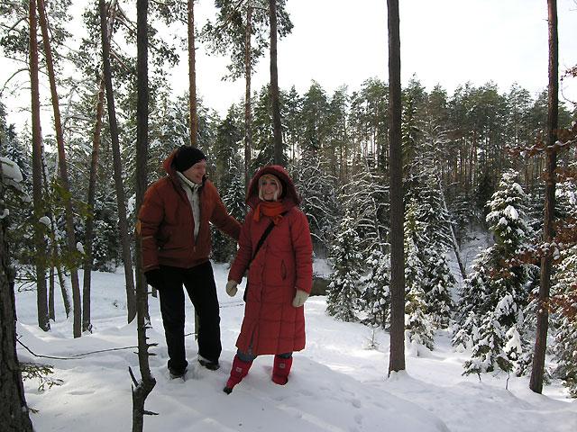 zimą w Puszczy Solskiej